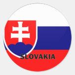 Bandera de la calidad de Eslovaquia Roundel Pegatinas Redondas