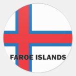 Bandera de la calidad de Faroe Island Roundel Pegatina Redonda