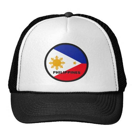 Bandera de la calidad de Filipinas Roundel Gorros Bordados
