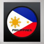 Bandera de la calidad de Filipinas Roundel Impresiones
