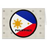 Bandera de la calidad de Filipinas Roundel Felicitacion