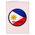 Bandera de la calidad de Filipinas Roundel Tarjeton