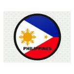 Bandera de la calidad de Filipinas Roundel Tarjeta Postal