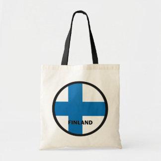 Bandera de la calidad de Finlandia Roundel Bolsa
