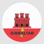 Bandera de la calidad de Gibraltar Roundel Etiqueta