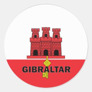 Bandera de la calidad de Gibraltar Roundel Pegatina Redonda