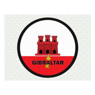 Bandera de la calidad de Gibraltar Roundel Postales