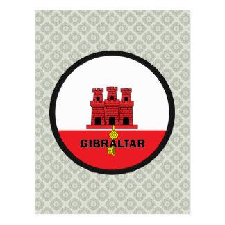 Bandera de la calidad de Gibraltar Roundel Tarjetas Postales