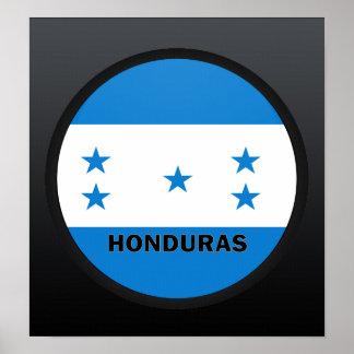 Bandera de la calidad de Honduras Roundel Posters