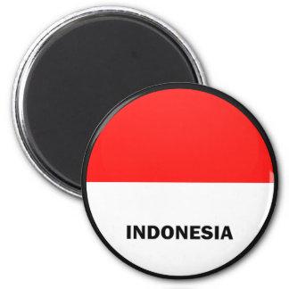 Bandera de la calidad de Indonesia Roundel Imanes De Nevera