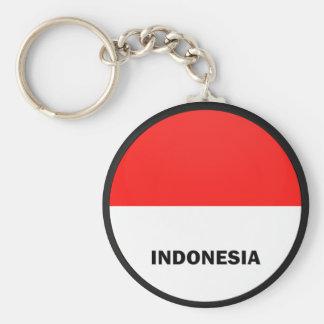 Bandera de la calidad de Indonesia Roundel Llavero