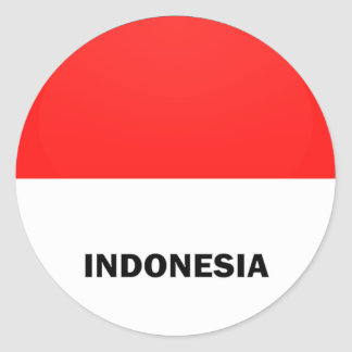 Bandera de la calidad de Indonesia Roundel Pegatina Redonda