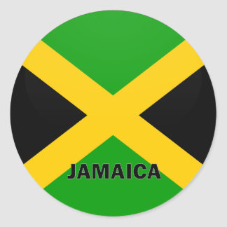 Bandera de la calidad de Jamaica Roundel Pegatina Redonda