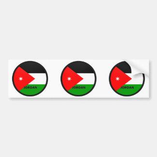 Bandera de la calidad de Jordania Roundel Pegatina De Parachoque