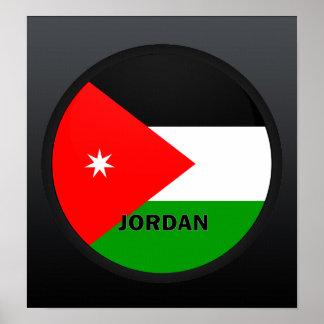 Bandera de la calidad de Jordania Roundel Póster