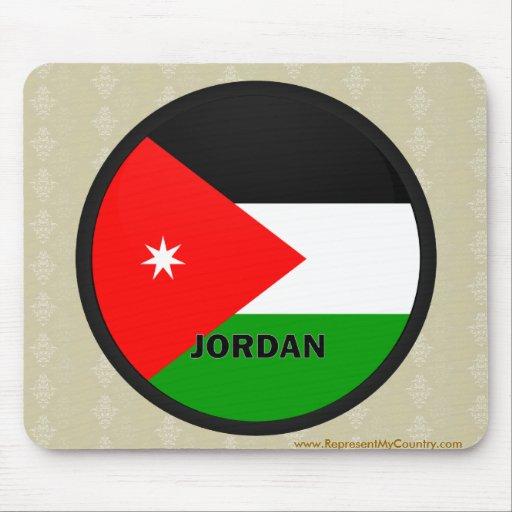 Bandera de la calidad de Jordania Roundel Alfombrillas De Raton