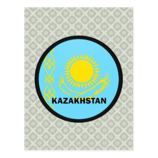 Bandera de la calidad de Kazajistán Roundel Tarjetas Postales