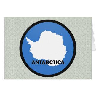 Bandera de la calidad de la Antártida Roundel Tarjetas