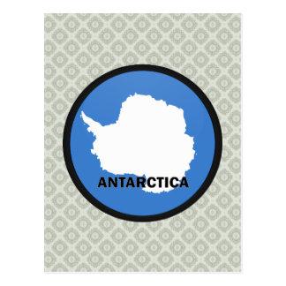Bandera de la calidad de la Antártida Roundel Postales