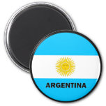 Bandera de la calidad de la Argentina Roundel Imanes De Nevera