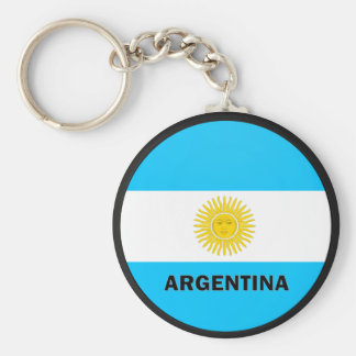 Bandera de la calidad de la Argentina Roundel Llaveros