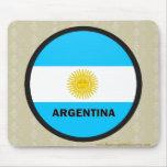 Bandera de la calidad de la Argentina Roundel Tapetes De Ratón