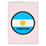 Bandera de la calidad de la Argentina Roundel Felicitación