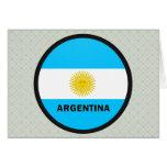 Bandera de la calidad de la Argentina Roundel Felicitaciones