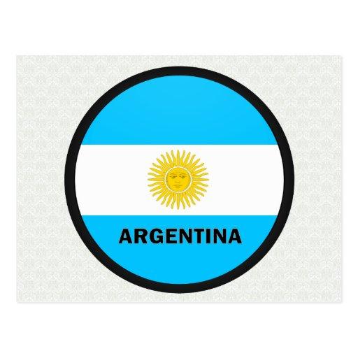 Bandera de la calidad de la Argentina Roundel Tarjetas Postales