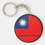 Bandera de la calidad de la República de China Rou Llaveros Personalizados