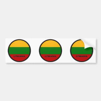 Bandera de la calidad de Lituania Roundel Pegatina De Parachoque