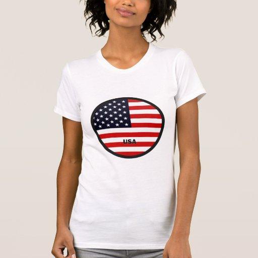 Bandera de la calidad de los E.E.U.U. Roundel Camisetas