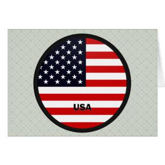 Bandera de la calidad de los E.E.U.U. Roundel Tarjeta De Felicitación