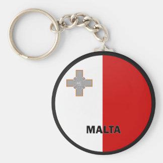 Bandera de la calidad de Malta Roundel Llavero Redondo Tipo Pin
