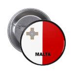 Bandera de la calidad de Malta Roundel Pin Redondo 5 Cm