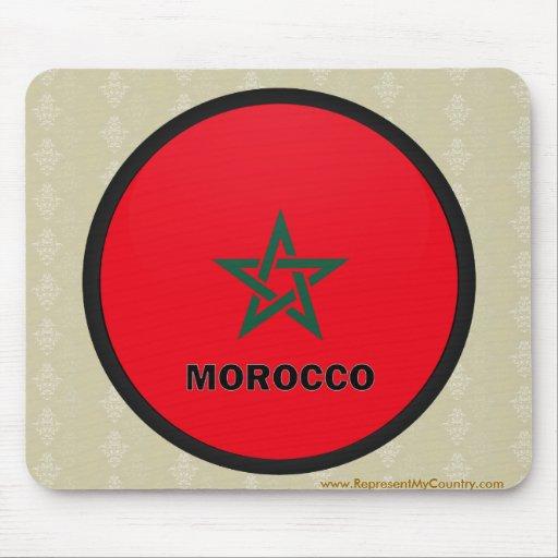 Bandera de la calidad de Marruecos Roundel Alfombrilla De Raton