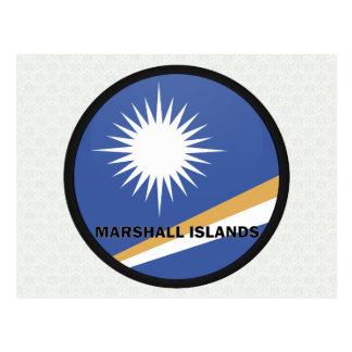 Bandera de la calidad de Marshall Islands Roundel Postales