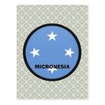 Bandera de la calidad de Micronesia Roundel Postal