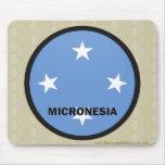 Bandera de la calidad de Micronesia Roundel Tapetes De Raton