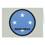 Bandera de la calidad de Micronesia Roundel Felicitaciones