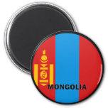 Bandera de la calidad de Mongolia Roundel Imán De Nevera