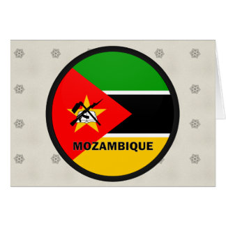Bandera de la calidad de Mozambique Roundel Felicitacion