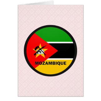 Bandera de la calidad de Mozambique Roundel Tarjeta De Felicitación