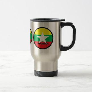 Bandera de la calidad de Myanmar Roundel Taza
