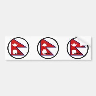 Bandera de la calidad de Nepal Roundel Pegatina De Parachoque
