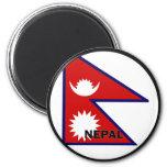 Bandera de la calidad de Nepal Roundel Imán De Frigorífico