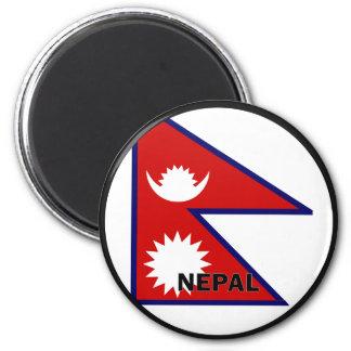 Bandera de la calidad de Nepal Roundel Imán Redondo 5 Cm
