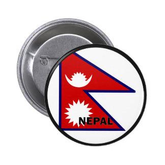 Bandera de la calidad de Nepal Roundel Pins