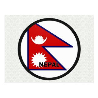 Bandera de la calidad de Nepal Roundel Tarjetas Postales
