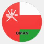 Bandera de la calidad de Omán Roundel Pegatina